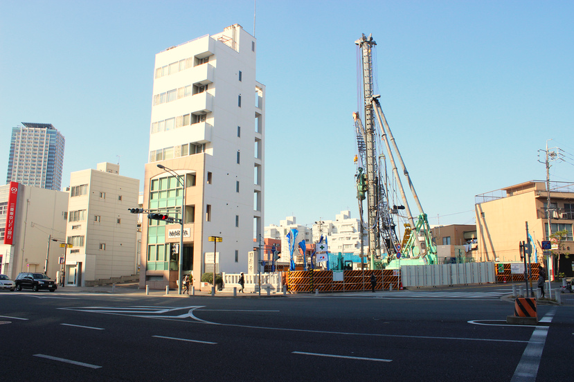 地下鉄覚王山駅前 「(仮称)覚王山ビル計画」 2013.11.24