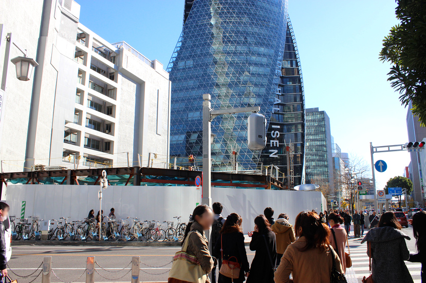 三井北館跡地に鉄骨出現!暫定施設建設へ 2013.12.8