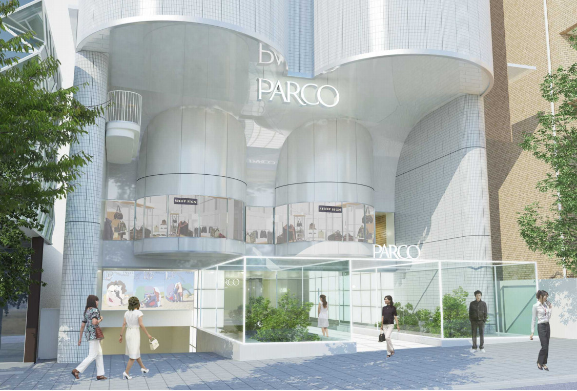 パルコ新館 新名称は「PARCO midi」に決定!東館エントランスを26年ぶり刷新へ!