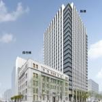 2018年2月の開業に向け建設が進む 三菱地所と積水ハウスの新ビル「(仮称)錦二丁目計画」 2017.3.5
