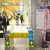 JR名古屋駅桜通口改札前コンコースに新たなデジタルサイネージが設置される! 2017.3.20~4.9