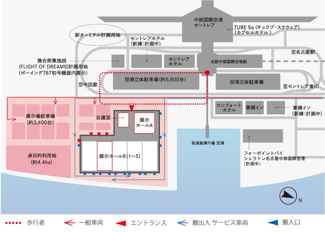 空港島に計画中の「愛知県国際展...